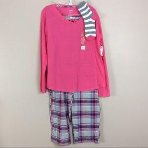 Sonoma Intimates Pajamas Set With Socks Sz XL NWT